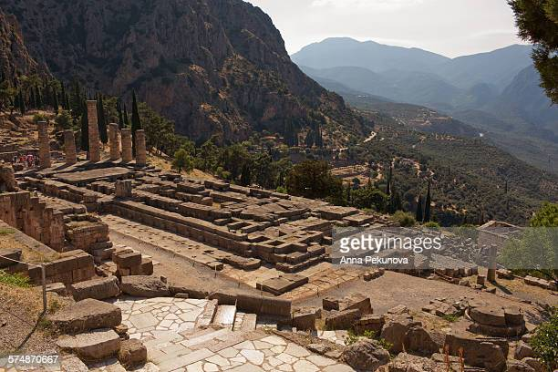 Elevated view of Ancient Delphi, Greece