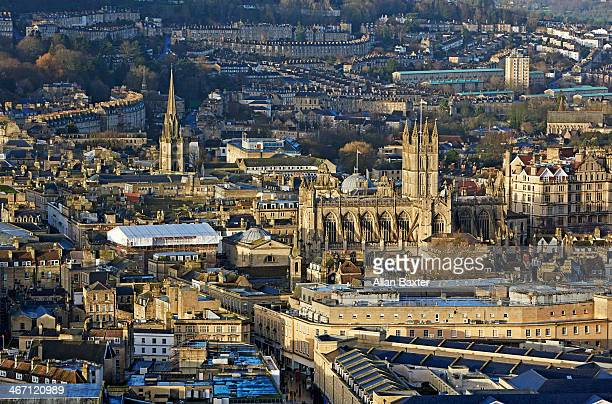 Elevated view of Bath Spa