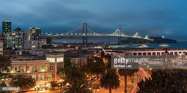 Elevated View of Bay Bridge - San Francisco