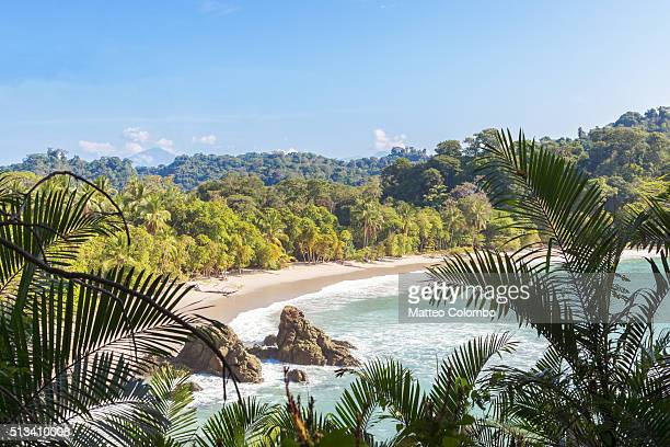 Elevated view of beach and forest, Manuel Antonio National Park, Costa Rica
