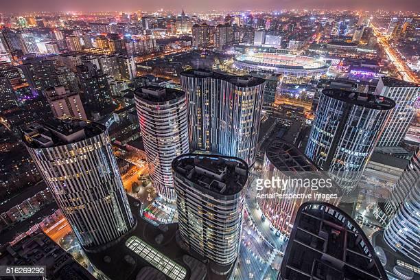 Elevated View of Beijing CBD Area