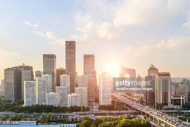Elevated view of Beijing CBD