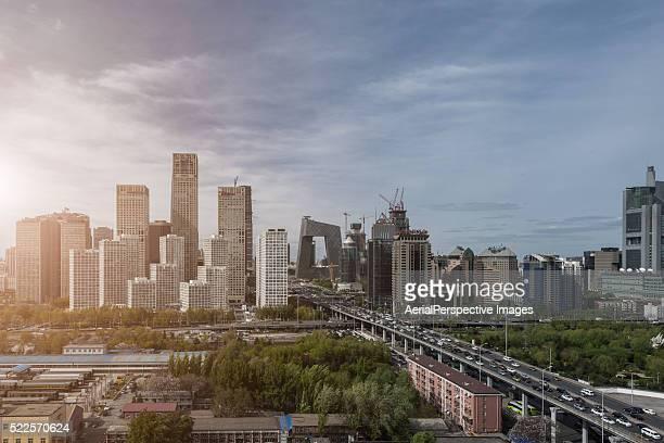 Elevated View of Beijing Skyline