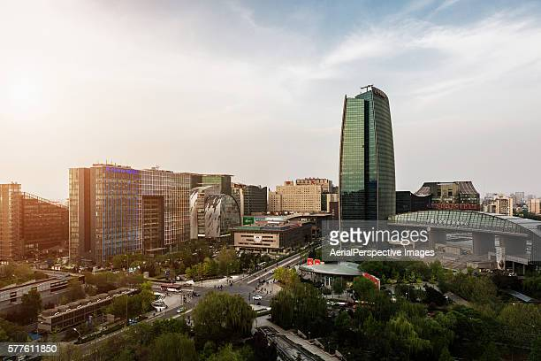 Elevated View of Beijing Zhongguancun Area (China's Silicon Valley)