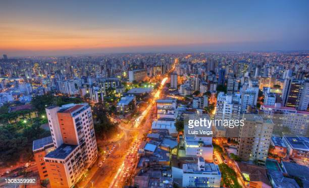 elevated view of belo horizonte, minas gerais state, brazil - belo horizonte stock pictures, royalty-free photos & images