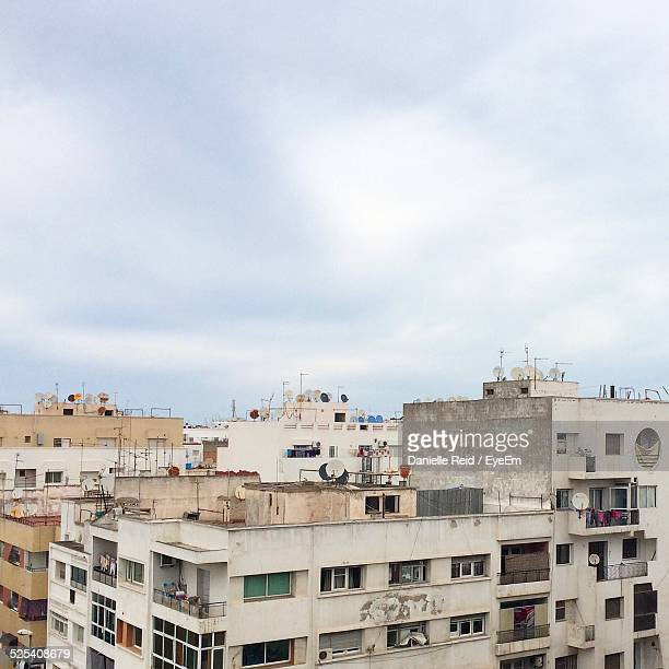 elevated view of blocks of flats - danielle reid stock pictures, royalty-free photos & images