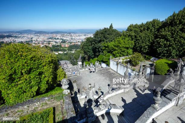 Elevated view of Braga from Bom Jesus Do Monte