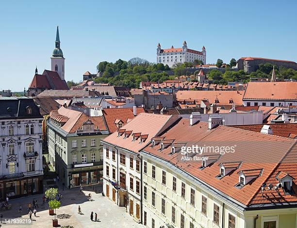 elevated view of bratislava - bratislava stock pictures, royalty-free photos & images