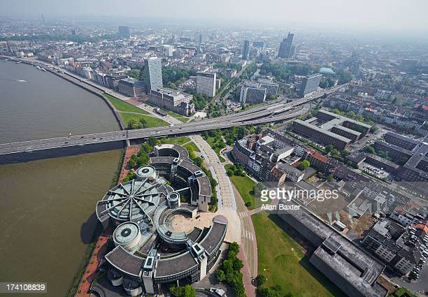 Elevated view of central Dusseldorf