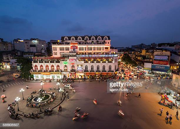 Elevated view of central Hanoi