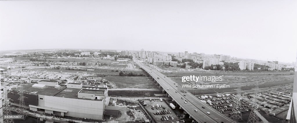 Elevated View Of City : Foto stock