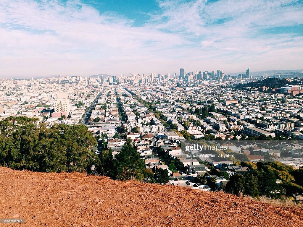 Elevated View Of Cityscape : Foto stock