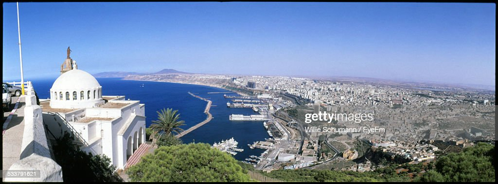 Elevated View Of Coast City : Foto stock