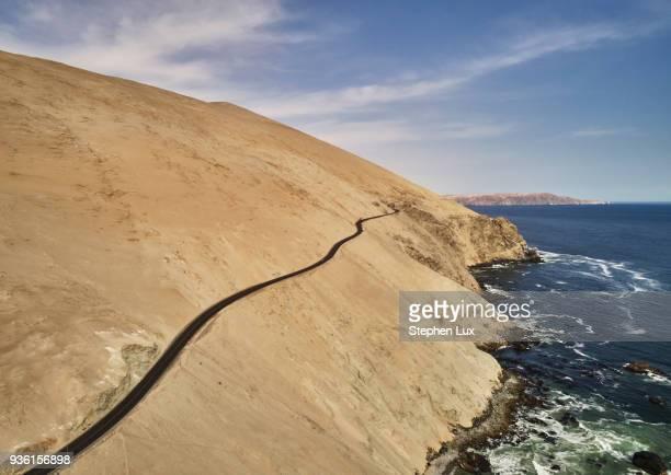 Elevated view of coastal road, Cerro de Arena, Arequipa, Peru