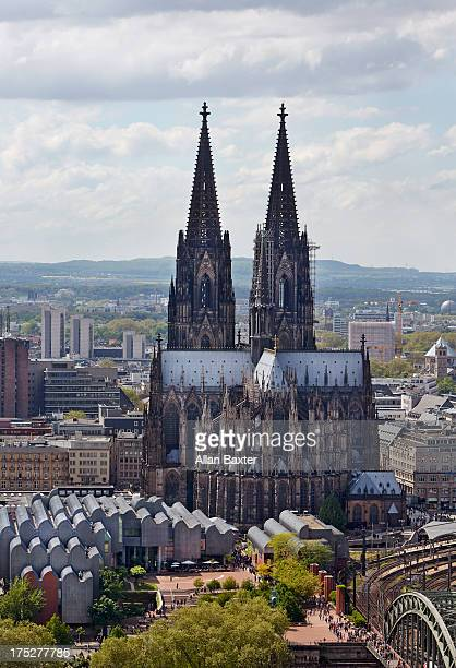 Elevated view of Cologne cathedral
