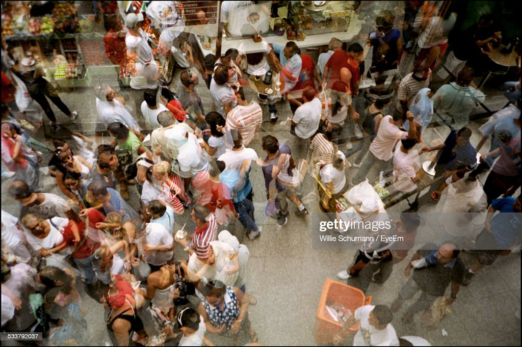 Elevated View Of Crowded Street : Foto stock