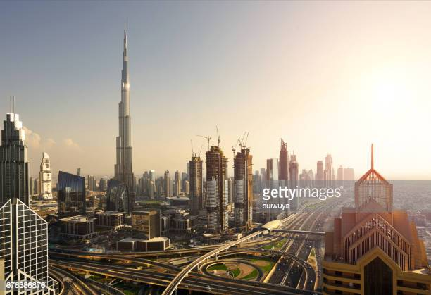 Elevated view of Dubai Downtown