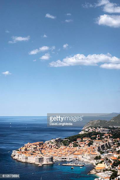 Elevated View of Dubrovnik Croatia on the Adriatic Sea