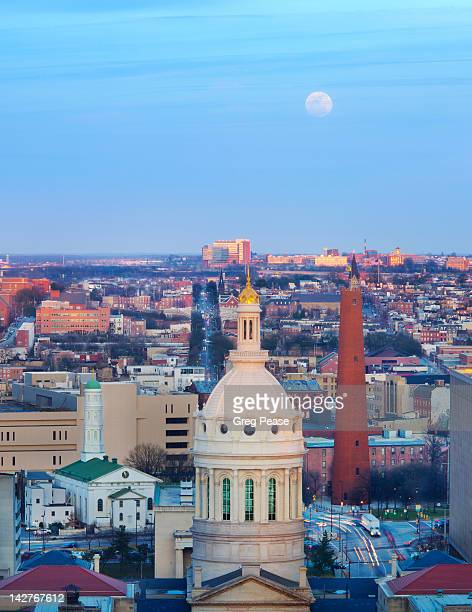 """elevated view of east baltimore - """"greg pease"""" stock pictures, royalty-free photos & images"""