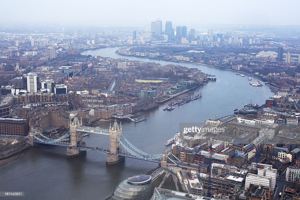 Elevated view of East London : Stock Photo