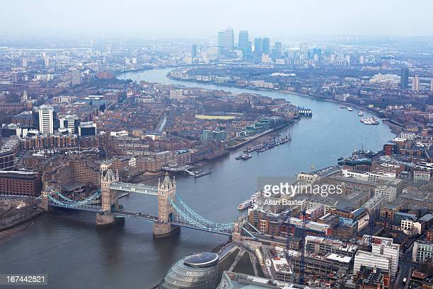 elevated view of east london - east london stock pictures, royalty-free photos & images