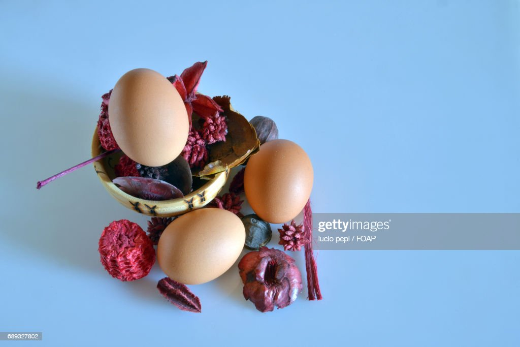 Elevated view of easter egg : Stock Photo