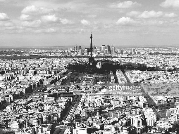 Elevated View Of Eiffel Tower