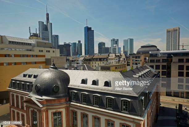 Elevated view of Frankfurts business district
