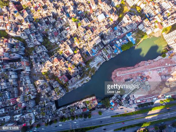Elevated view of Guangzhou Xiancun village