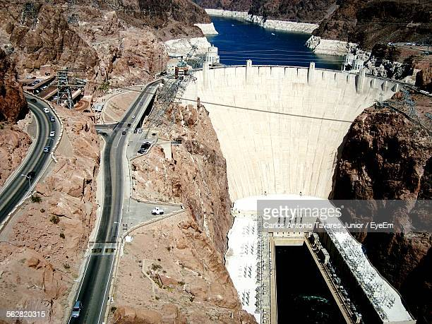 Elevated View Of Hoover Dam