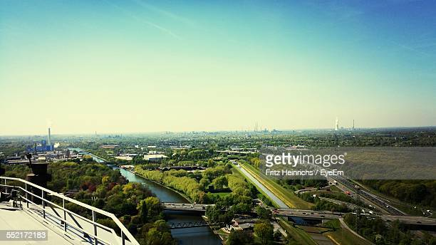 elevated view of industry area - north rhine westphalia stock pictures, royalty-free photos & images