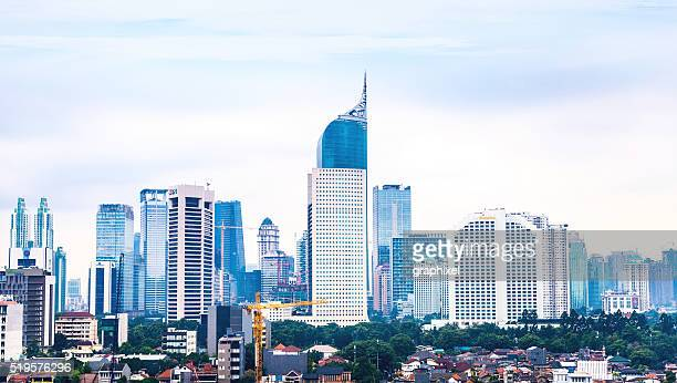 Elevated view of Jakarta's Skyline