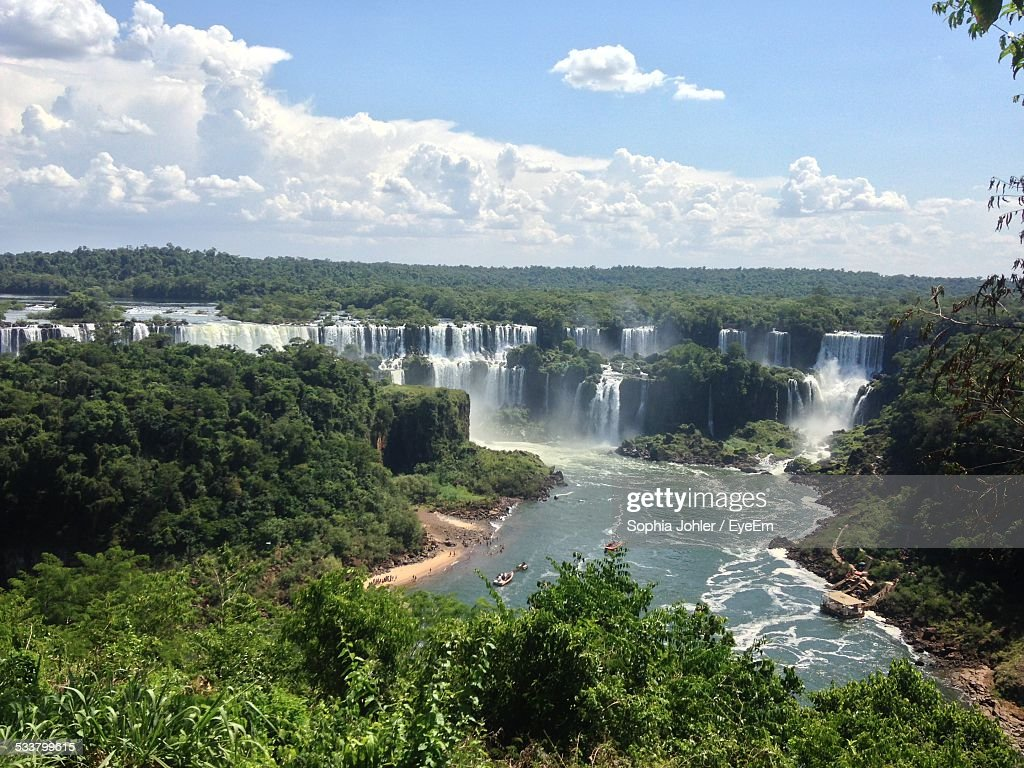Elevated View Of Large Waterfall : Foto stock