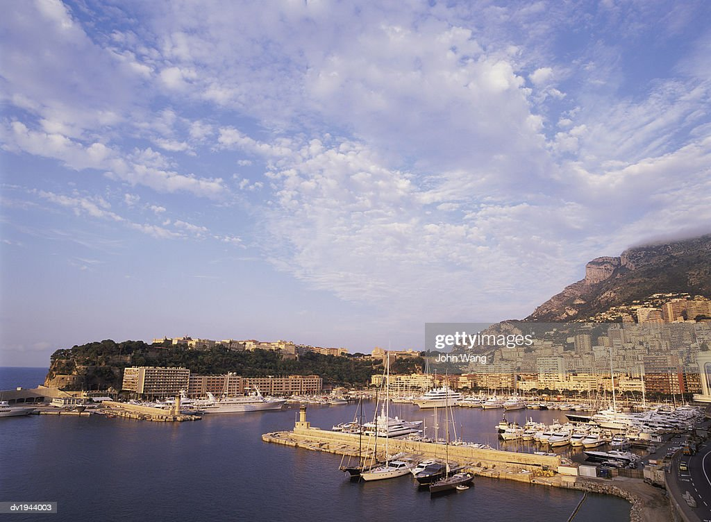 Elevated View of Monaco Harbour : Stock Photo