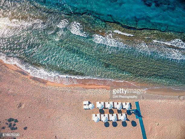 Elevated View of Mykonos Bay Beach