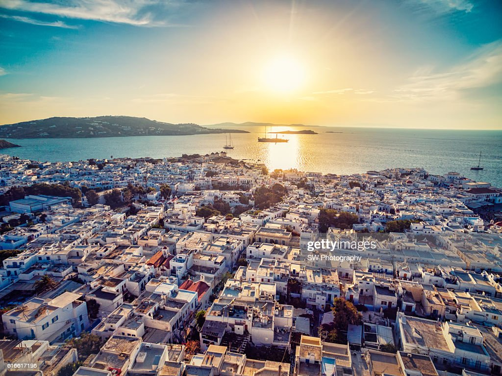 Elevated view of Mykonos, Greece : Stock Photo