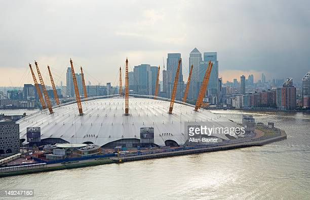 Elevated view of O2 Arena