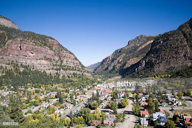 elevated view of Ouray, Colorado