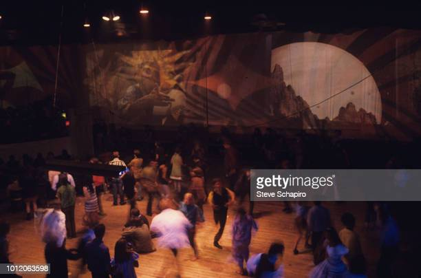 Elevated view of people as they dance at the Fillmore West nightclub San Francisco California 1967