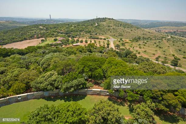 elevated view of pretoria from the voortrekker monument - pretoria stock pictures, royalty-free photos & images