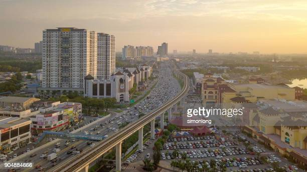 Elevated view of Puchong, Malaysia