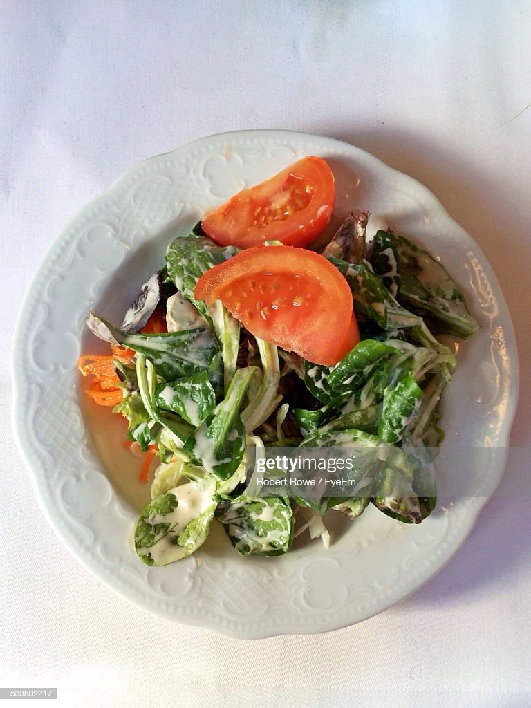 Elevated View Of Salad With Tomato : Foto stock