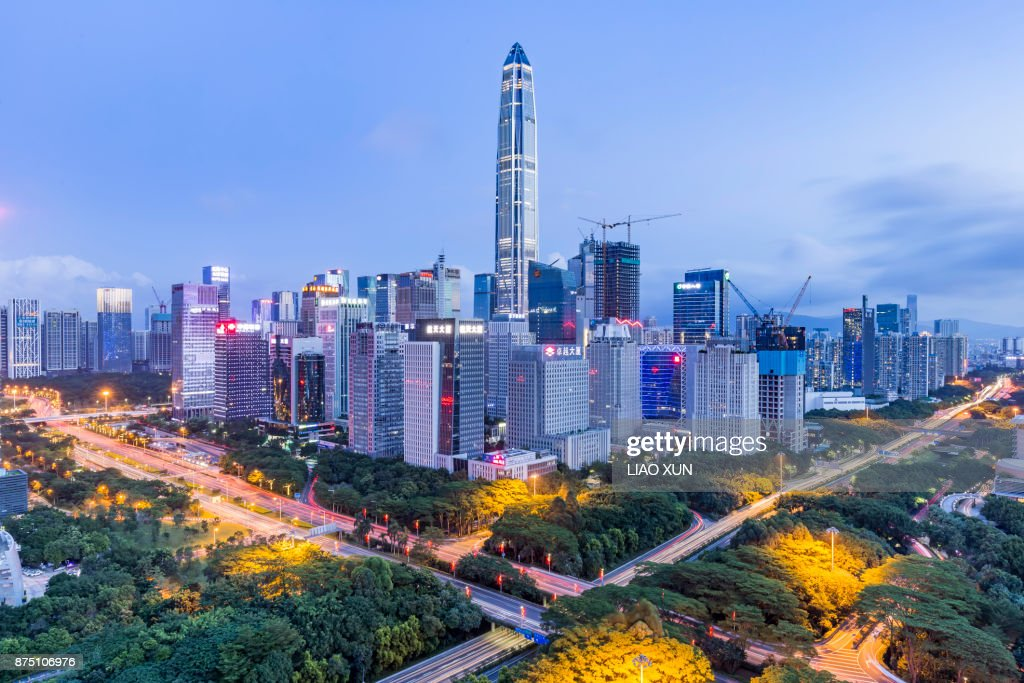 Elevated View of Shenzhen Skyline : Stock Photo