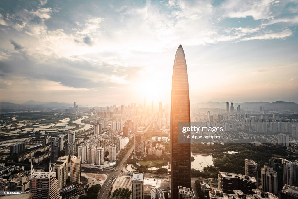 Elevated View of Shenzhen Skyline : Stock Photo