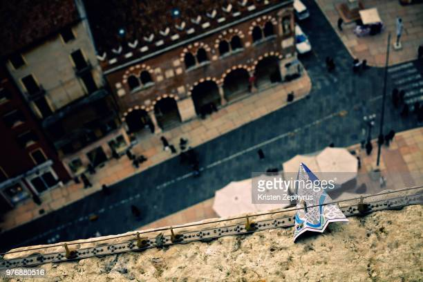 Elevated view of street in Verona, Verona, Italy