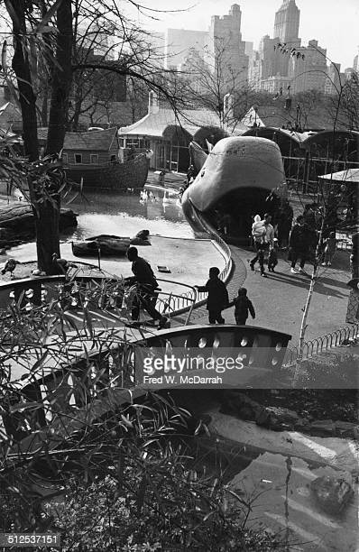 Elevated view of the Central Park Children's Zoo with 'Jonah the Whale' New York New York November 17 1963