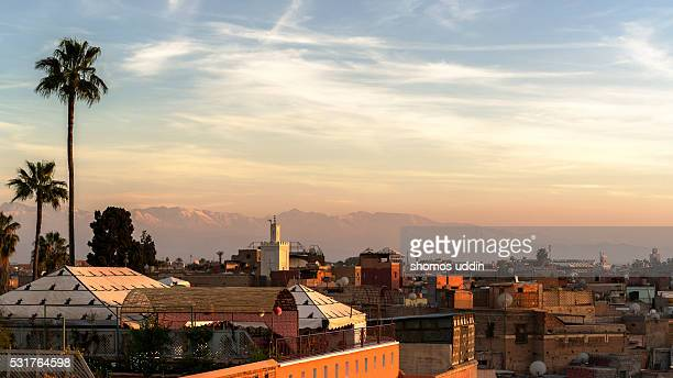Elevated view of the city of Marrakech - Panoramic