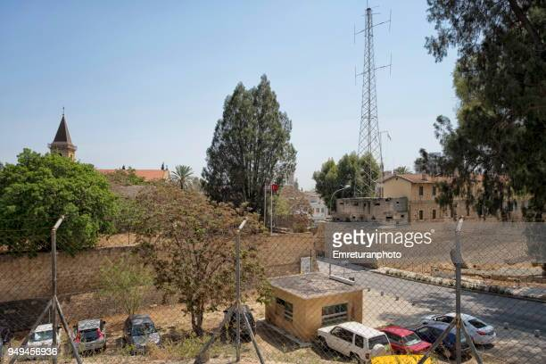 elevated view of the greek side of nicosia from the turkish side. - emreturanphoto stock pictures, royalty-free photos & images