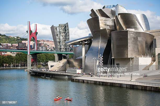 Elevated view of the Guggenheim museum, Bilbao, Spain