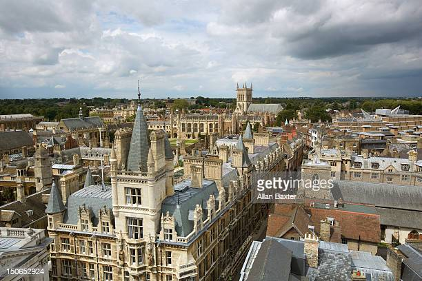 elevated view of the skyline of cambridge - cambridge stock pictures, royalty-free photos & images